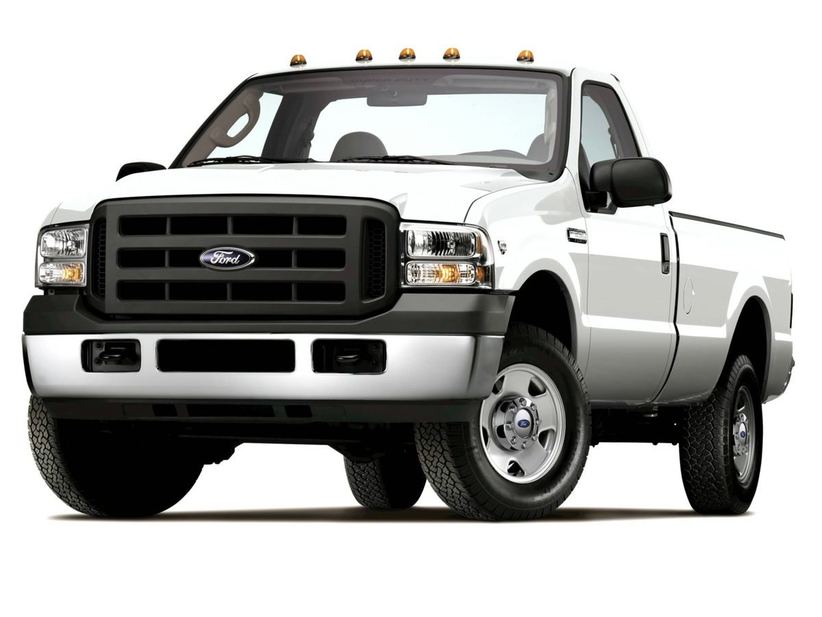 2005 Ford F-350SD XLT White WowWowWow  ONE Owner Crew Cab Diesel with a 8 ft bed 4x4  XL