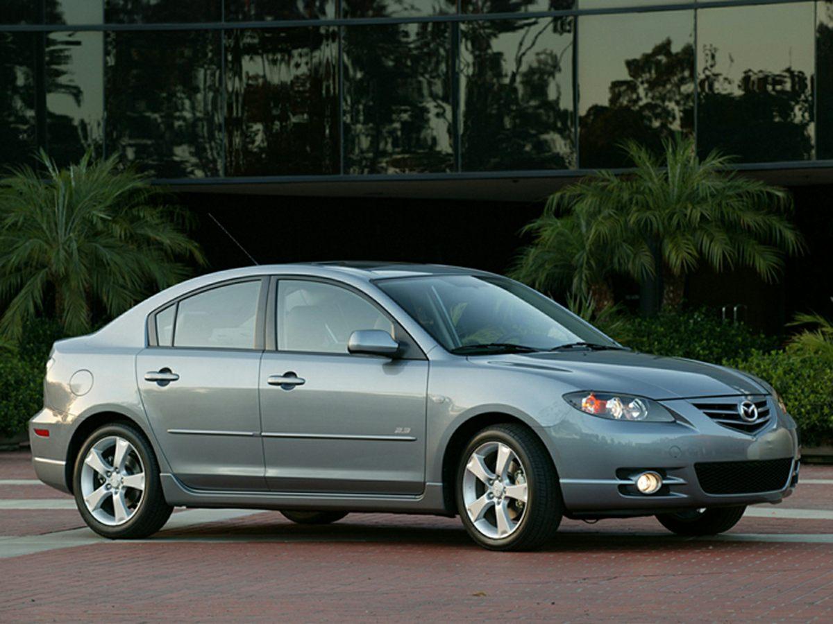 2006 Mazda Mazda3 i Silver Reclining Sport Front Bucket SeatsCloth-Trimmed Seat UpholsteryAMFM