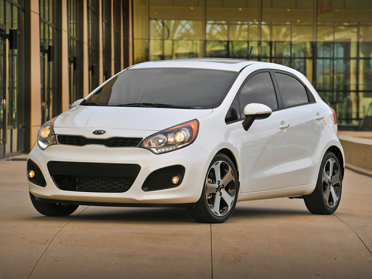 2015 Kia Rio EX White 15 x 55J Steel wCovers WheelsKnit Cloth Seat TrimRadio AMFMCD MP3 Au