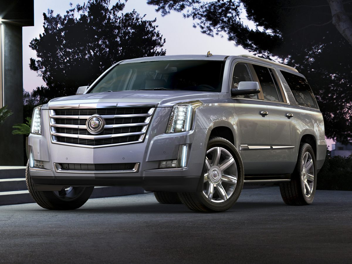 2015 Cadillac Escalade ESV Base Black Inherits the road with a sure-footed ease Stability and tr