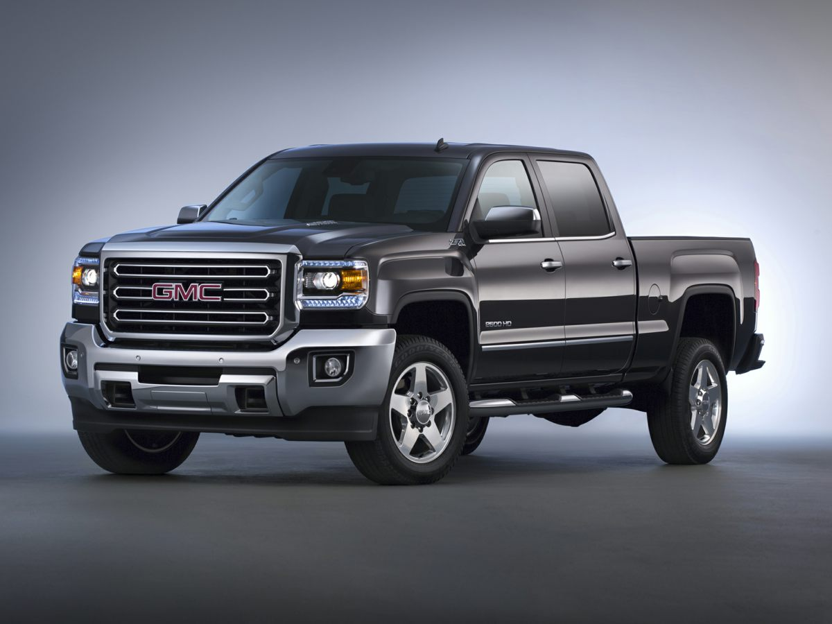 2015 GMC Sierra 2500HD SLE White Snow Plow Prep Package 4WD Jet Black wCloth Seat Trim Dual-Zo