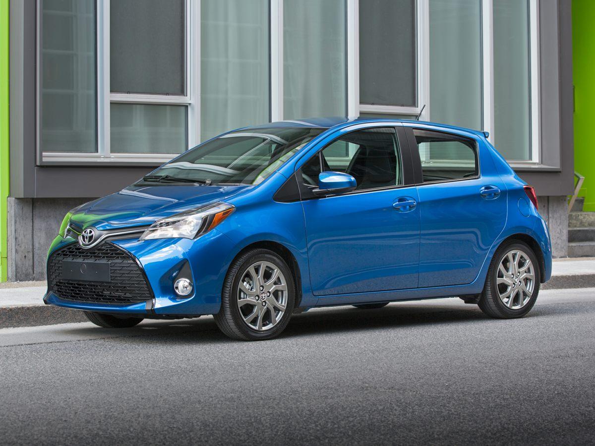 2015 Toyota Yaris Red Front Bucket SeatsRadio Entune AudioKnee airbagLow tire pressure warnin
