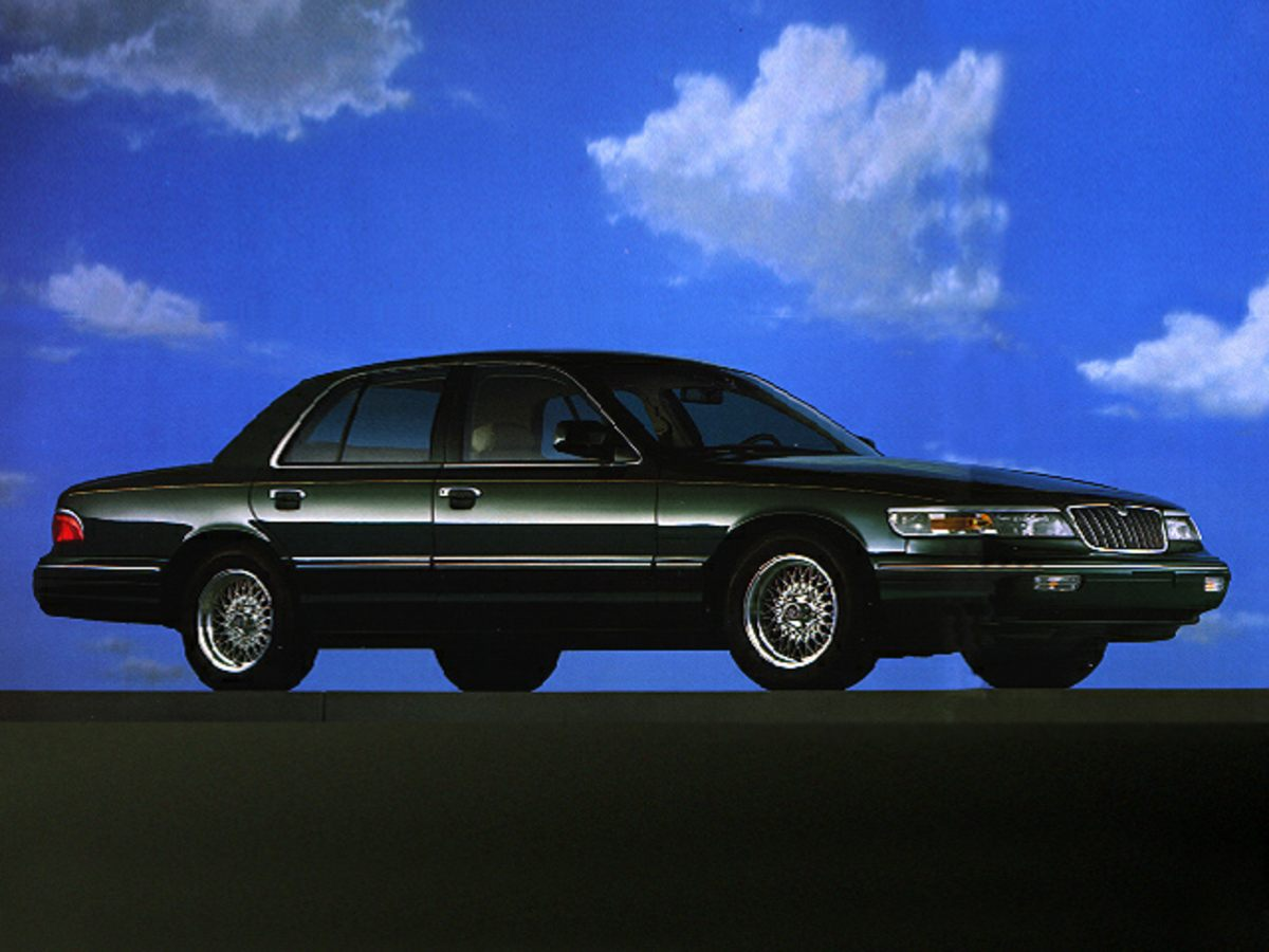 1998 Mercury Grand Marquis LS Black Sleek Black STOP Read this Creampuff This attractive 199