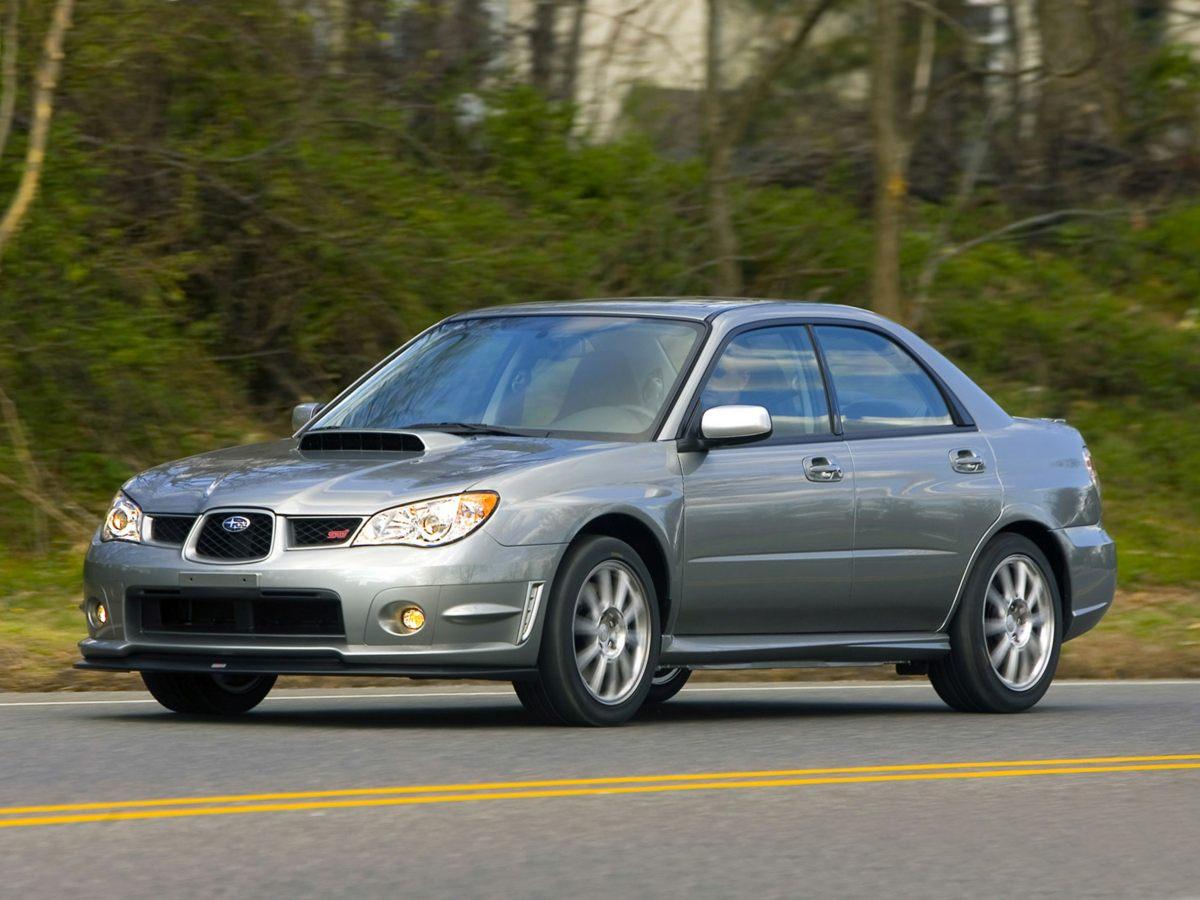 2007 Subaru Impreza WRX Red Leather Interior Impreza WRX Limited 4D Sedan 4-Speed Automatic wi