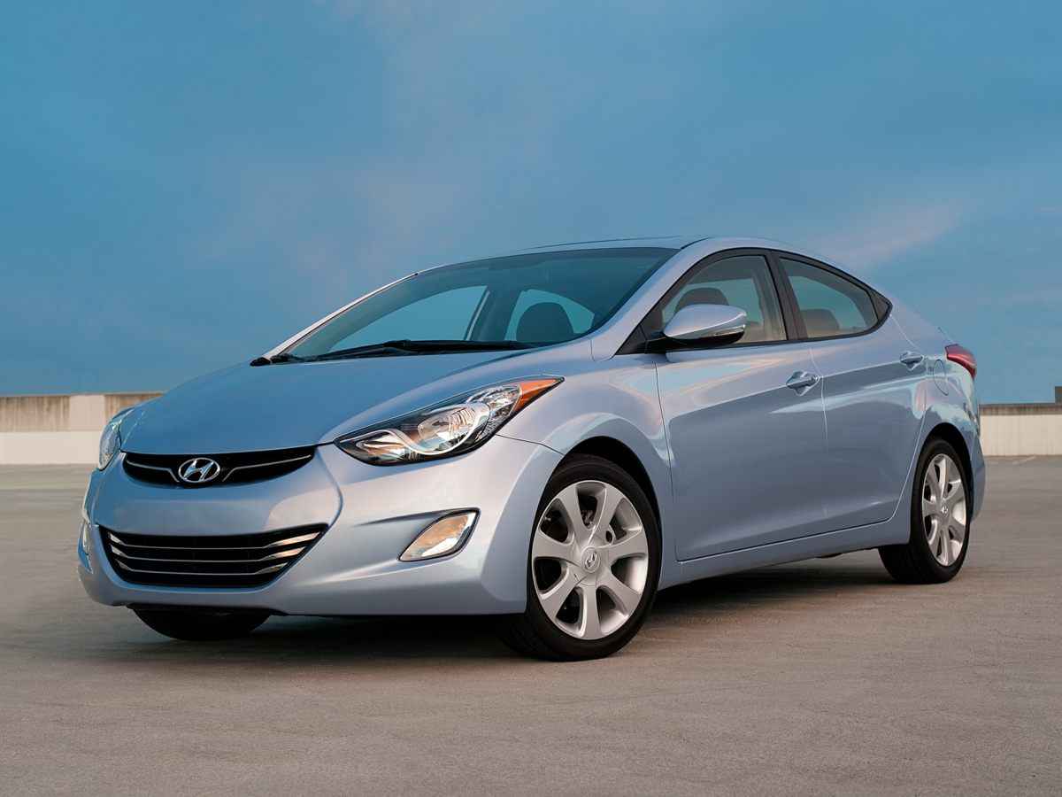 2013 Hyundai Elantra GLS White White One Owner Clean Carfax Bluetooth and MorePreferred Packa