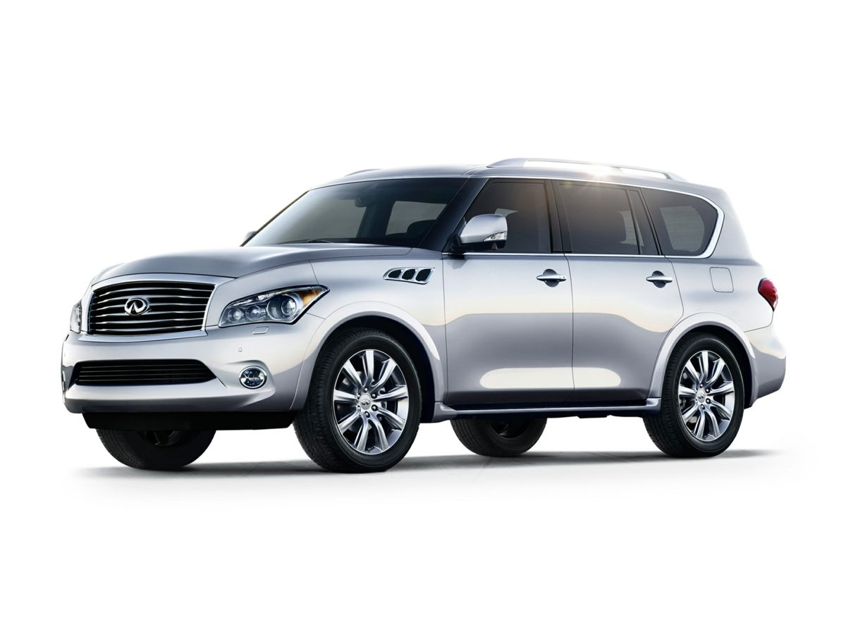2012 Infiniti QX56 Base White BEAUTIFUL 2012 Infiniti QX56 Theater Package 120V Power Outlet D