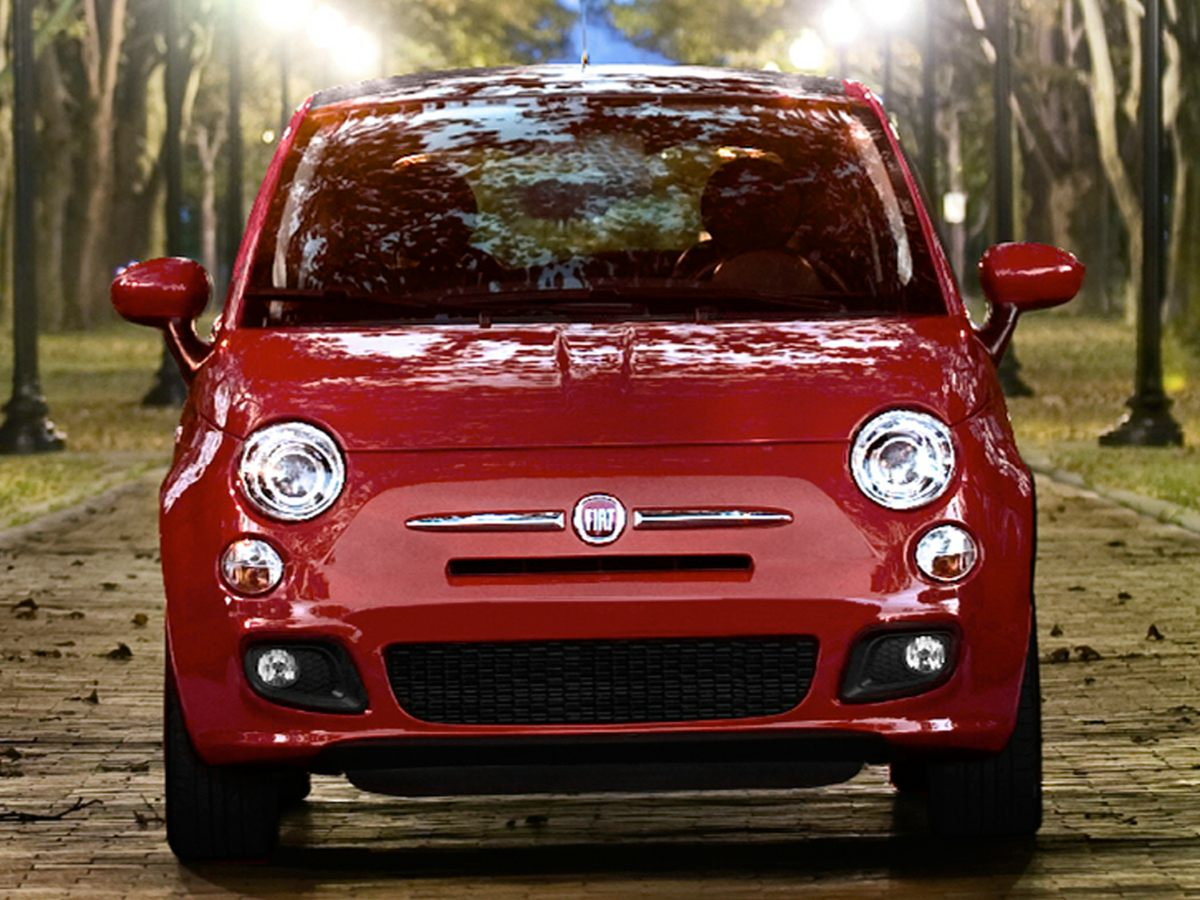 2013 Fiat 500 Pop Red 15 x 60 Steel WheelsCloth Bucket SeatsAMFM Radio4-Wheel Disc Brakes6