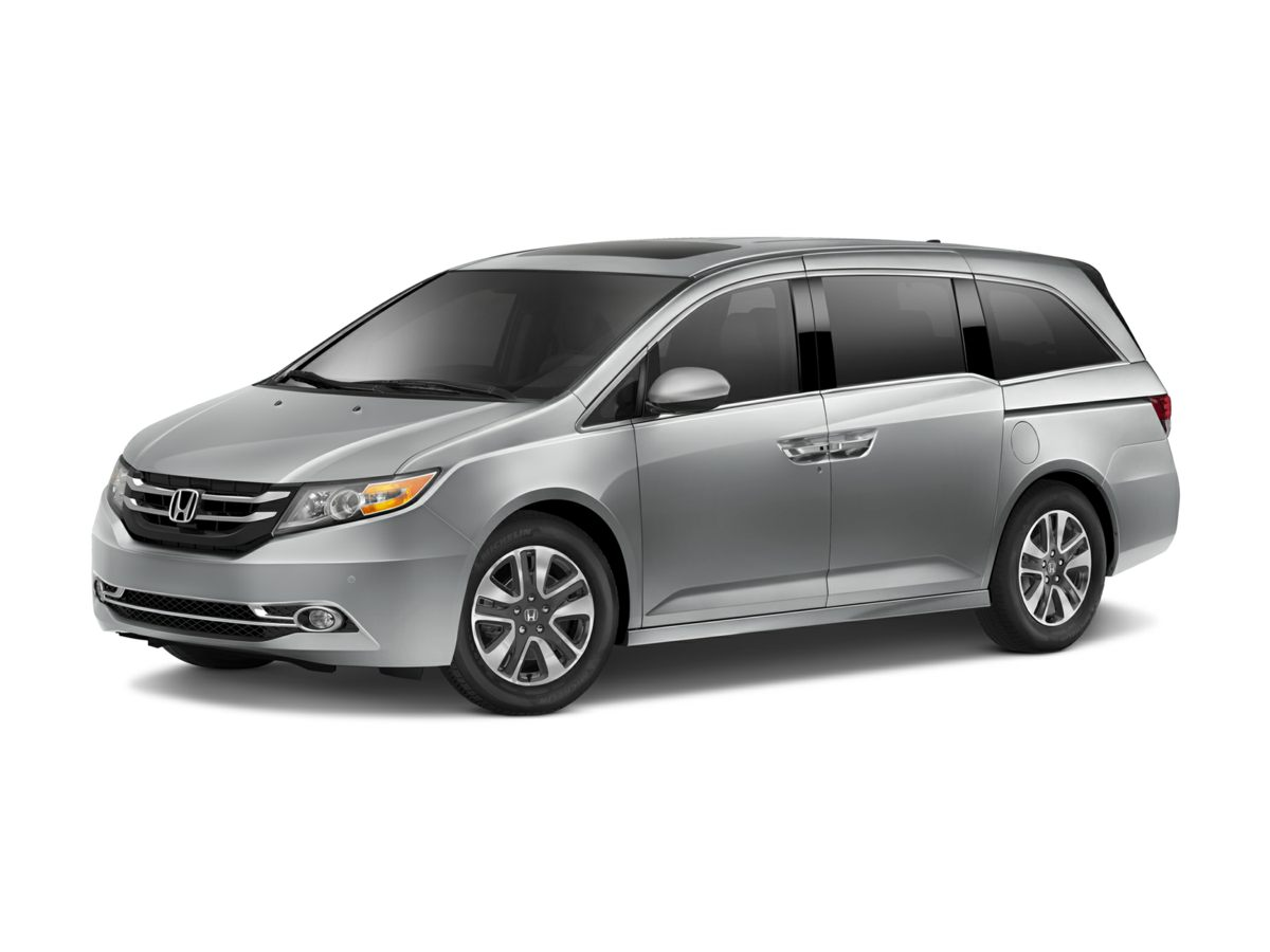 2014 Honda Odyssey Touring Elite Silver 425 Axle RatioHeated Front Bucket SeatsLeather Seat Tri