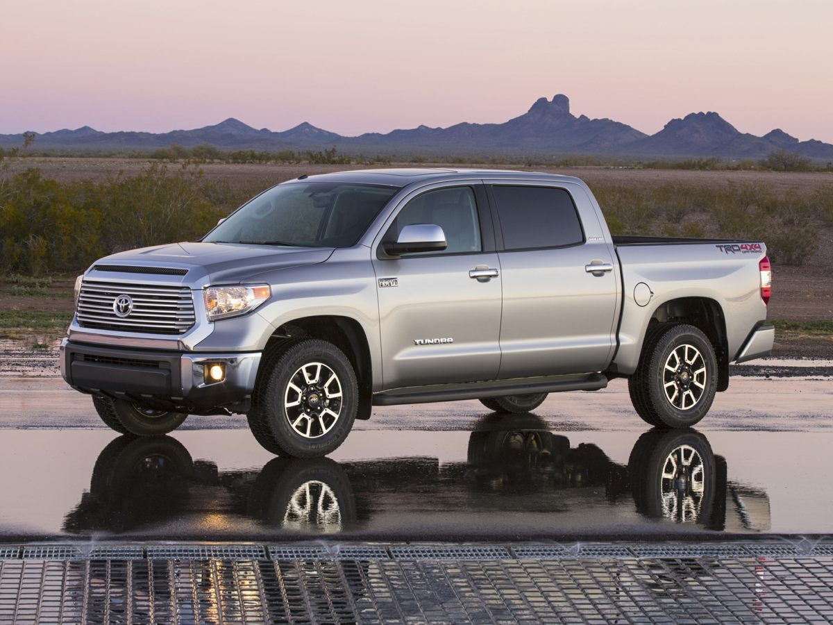 2014 Toyota Tundra Limited Silver Leather Interior Tundra Limited 4D CrewMax 4WD ABS brakes
