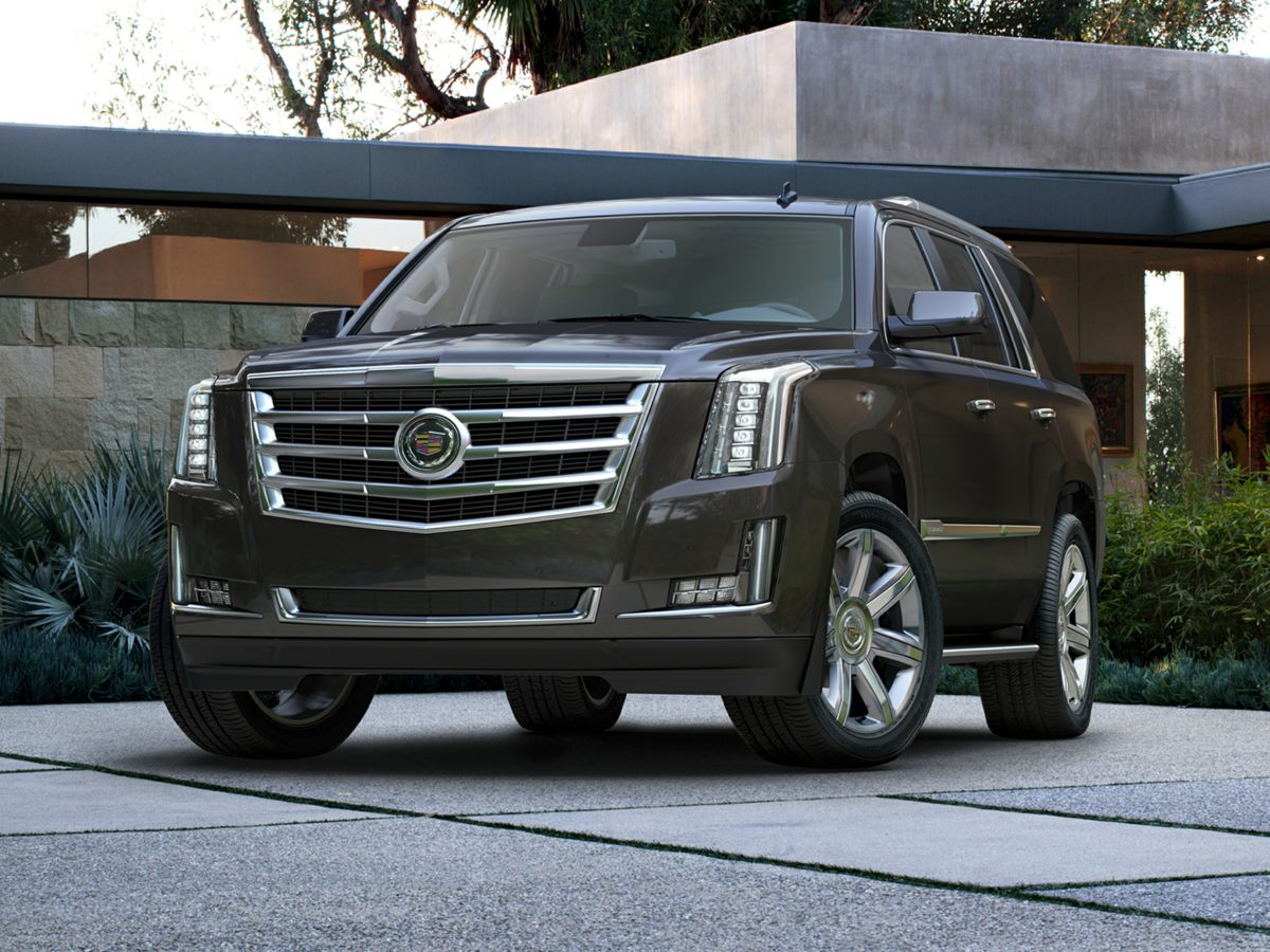 2015 Cadillac Escalade Base White Gas miser Goes to task and then some Set down the mouse bec
