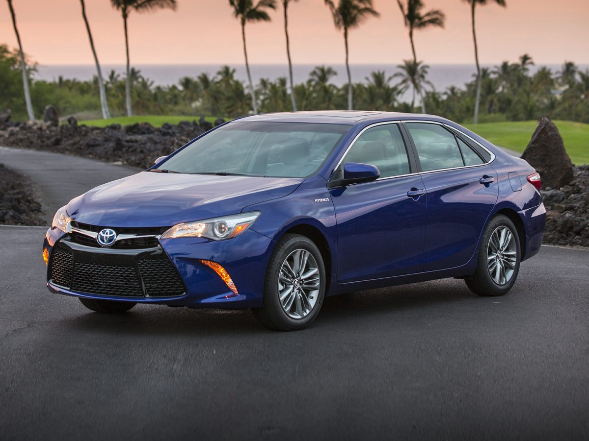 2015 Toyota Camry Hybrid XLE Blue Leather Interior Moonroof Package Camry Hybrid XLE 4D Sedan