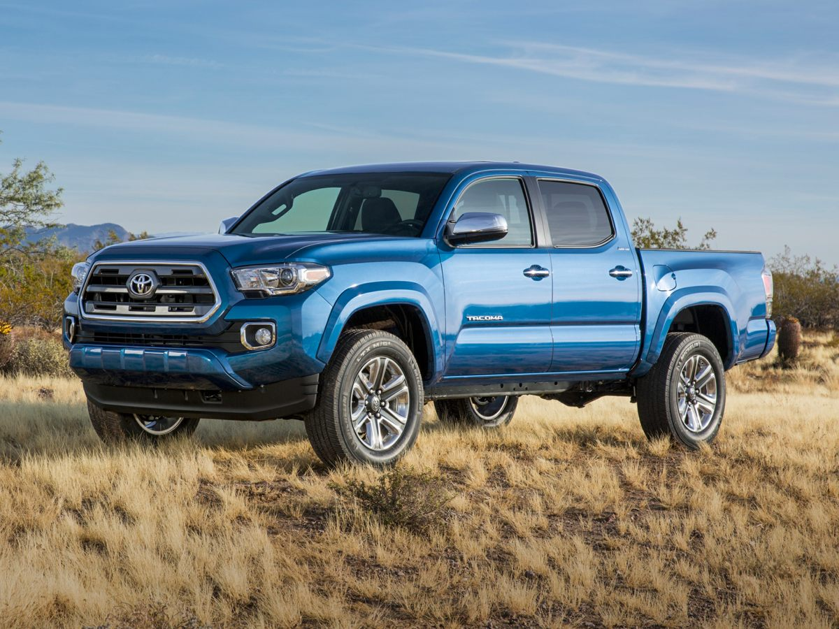 2016 Toyota Tacoma Limited Blue Leather Interior Tacoma Limited V6 4D Double Cab 4WD ABS brak