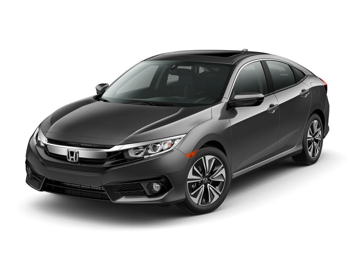2018 Honda Civic EX-L Blue Reclining Heated Front Bucket SeatsLeather Seat TrimRadio 180-Watt