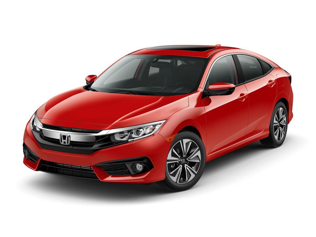 2018 Honda Civic EX-L White Reclining Heated Front Bucket SeatsLeather Seat TrimRadio 180-Watt