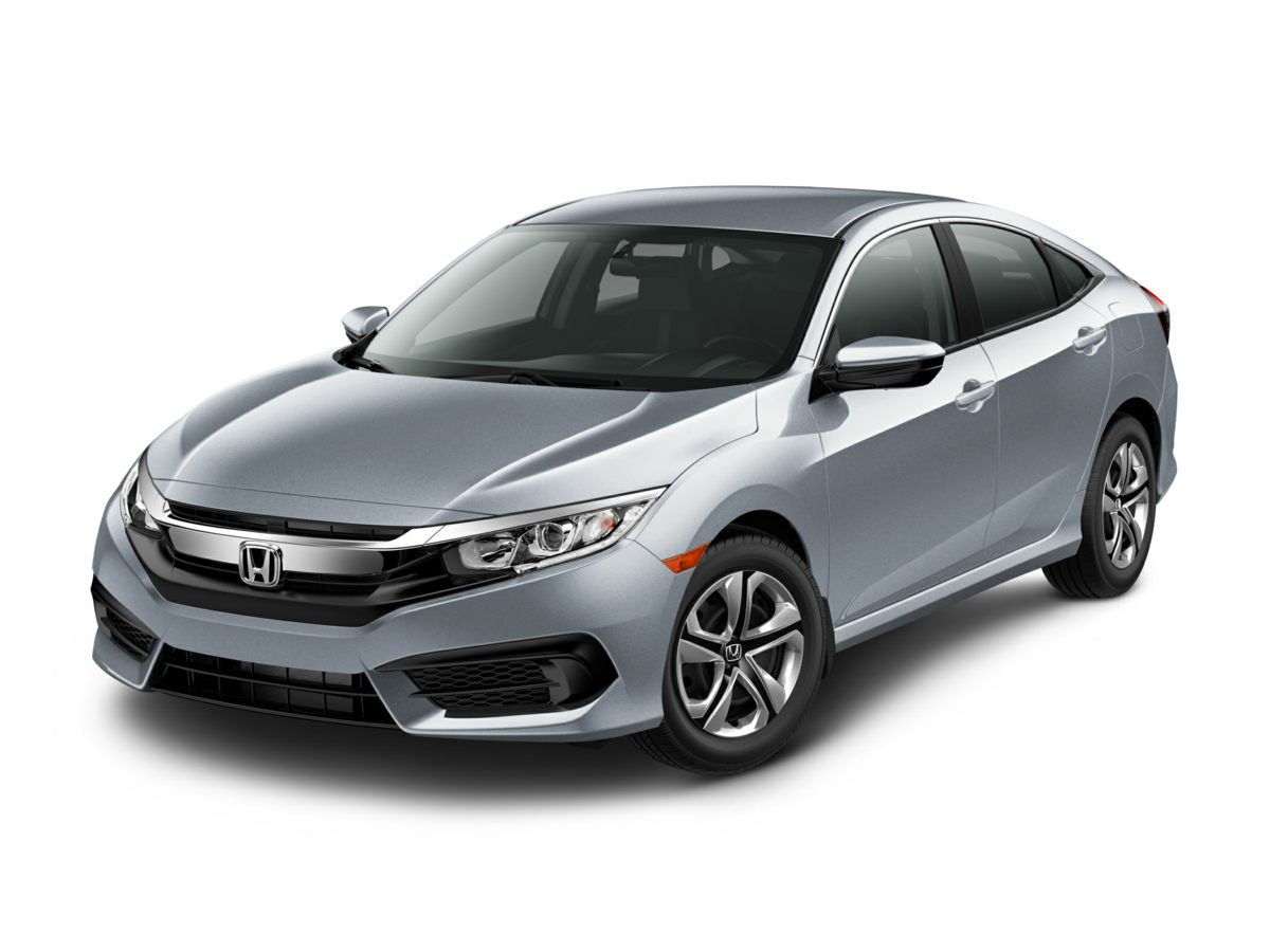 2018 Honda Civic LX BLACK Delay-off headlights Cloth Seat Trim