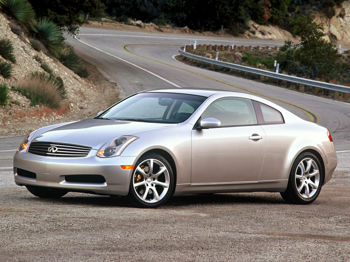 2004 Infiniti G35 Coupe Base Bumpers: body-color Brake assist