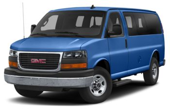 2019 GMC Savana 3500 - Marine Blue Metallic