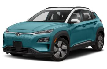 2021 Hyundai Kona EV - Ceramic Blue w/White Roof