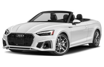 2021 Audi A5 - Glacier White Metallic/Brown Top