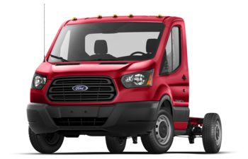 2019 Ford Transit-350 Cab Chassis - Race Red