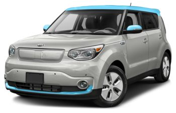 2019 Kia Soul EV - Pearl White/Sky Blue Two-Tone