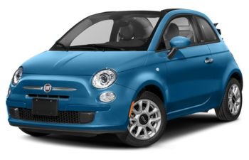 2019 Fiat 500C - Laser Blue Metaillic