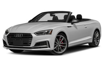 2018 Audi S5 - Glacier White Metallic/Red Top