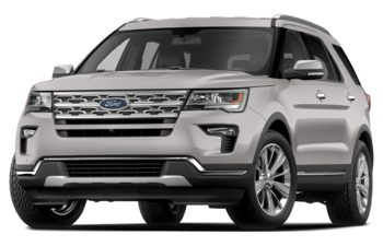 2018 Ford Explorer - White Platinum Metallic Tri-Coat