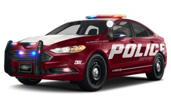 2019 Ford Police Responder Hybrid Sedan - Ruby Red Metallic Tinted Clearcoat