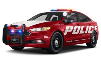 2020 Ford Police Responder Hybrid Sedan - Rapid Red Tinted Clearcoat