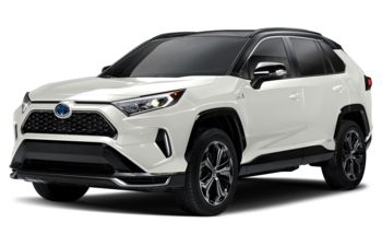 2021 Toyota RAV4 Prime - Blizzard Pearl w/Black Roof